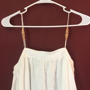 Zara long white maxi dress